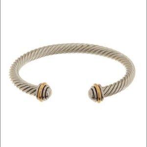 Meshmerise Twisted Cable Cuff Bangle